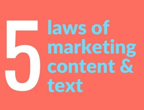 Fem budord för användbara content texter